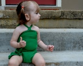 Baby Bathing Suit Kelly Green Wrap Around Swimsuit Tie On Swimsuit Infant Bathing Suit Baby Fashion to fit Newborn to 3T