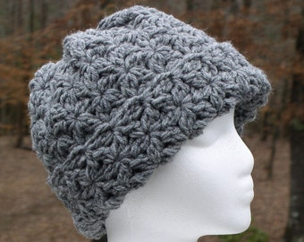 Warm Winter Cluster Cloche Crochet Hat
