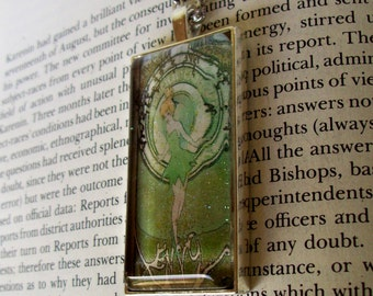 Tinker Bell Necklace (N622) Vintage Tinker Bell Artwork Pendant Design, Steampunk, Pendant and Chain