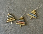 Rustic Bullet Casing Ornament,Valentine,  Recycled Gun Casing Ornament, Tree, Recycled Metal Ornament, Hunters Ornament, Gun Lovers Ornament