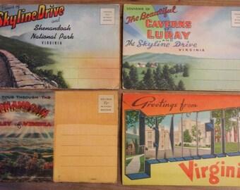 Nine Picture Postcard Folders 1947 - 1966