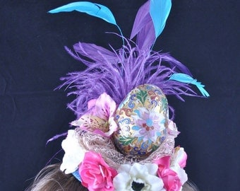 Faberge for Easter Day Fascinator