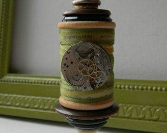 Spool Ornament - Upcycled Ornament - Recycled Ornament - Hanging Decor by Jen Hardwick