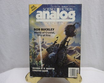 Analog Science Fiction Science Fact, October 1985 george rr martin, bob buckley, timothy zahn, robert l schultz,  paperback book