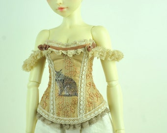 Cats of the Forest BJD Art Line Corset for Fairyland Minifee MSD