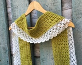 Crochet Pattern / Crochet scarf pattern / Crochet Pattern Scarf / Lace Scarf Pattern / Crochet Lace Scarf / PDF Pattern