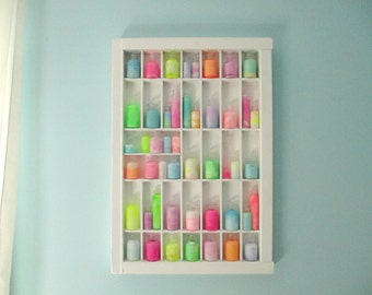 Neon Pastel Apothecary Display in Vintage Letterpress Tray - Painted Glass Bottles - Unusual Home Decor or Gift - Faux Magic Potions