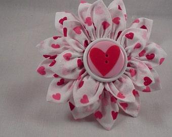 Valentine's Day Flower Hair Clip