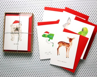 Christmas Card Collection - Set of eight blank cards