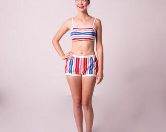 1950's Two Piece Swimsuit/ 50's Bikini
