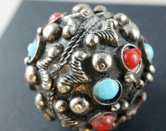 Antique Bead. Nepal . Tibet. China. Turquoise Coral.  No.00206 cs