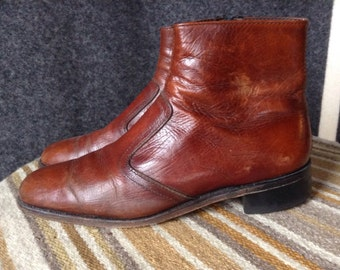 Vintage leather Beatle boots Chelsea boots mens 9 USA