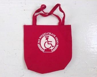 Vintage Ms. Wheelchair Ohio canvas tote bag