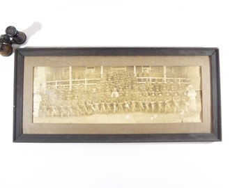 Vintage WWI Military Photograph / WWI US Army Large Group Panoramic Photo / Walter Reed Army Hospital Photo