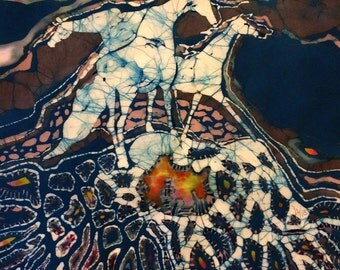 Horses Art  -  Crossroad  -  Original Batik