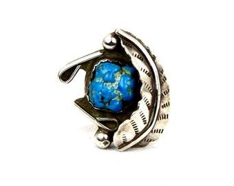 Artisan Handmade Vintage Turquoise Southwest Statement Ring Size 8