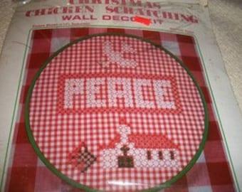 Christmas Chicken Scratch Wall Decor Kit