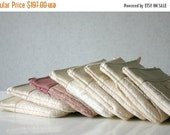 ON SALE 8 Pleated lace Bridesmaid clutch Ruched bags Bridesmaids gifts Bridal party