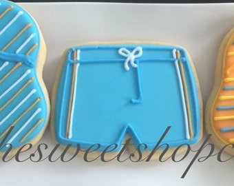 Beach Party Cookies 2 dozen