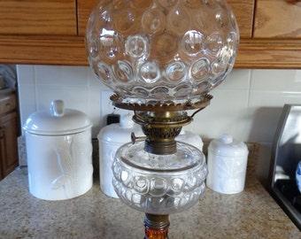 1880s Oil Lamp (SCARCE) Extra Nice P & A Burner