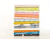 Carkai Beach Palette Half Yard Bundle, 14 Pieces, Carolyn Friedlander, Robert Kaufman Fabrics, 100% Cotton Fabric, AFR-15790