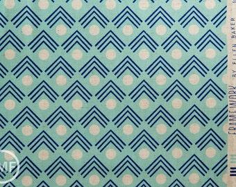 Framework Corners CANVAS in Blue, Ellen Baker for Kokka Fabrics, Cotton and Linen Canvas Fabric, JG-41900-902A