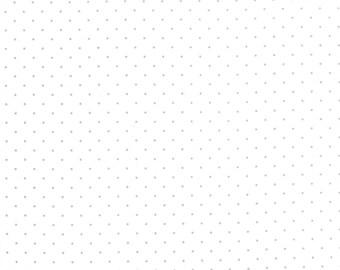 Modern Background Paper Pindot Silver on White, Brigitte Heitland, Zen Chic, Moda Fabrics, 100% Cotton Fabric, 1588 13