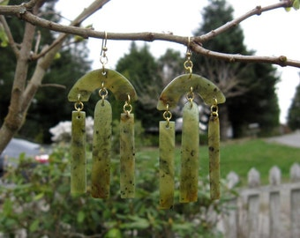Wyoming Jade (Kiwi Jade) Earrings