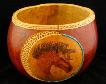 Desert Wind Gourd Art Bowl
