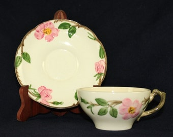 Vintage Franciscian DESERT Rose teacup and saucer