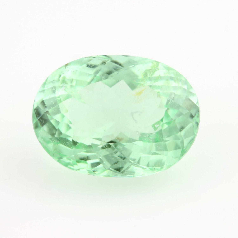 3 14ct tourmaline gemstone oval light mint green