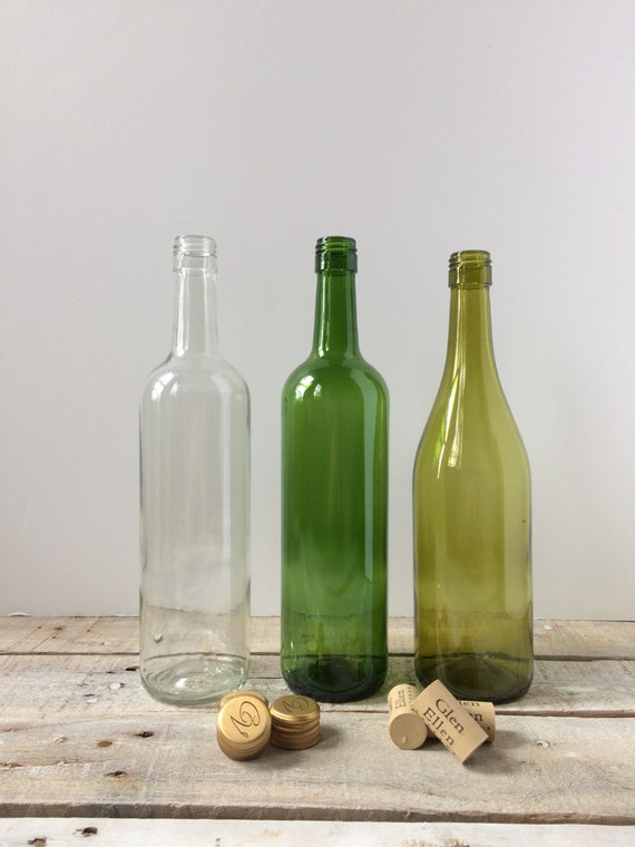 empty wine bottles for crafts decor lights set of 3