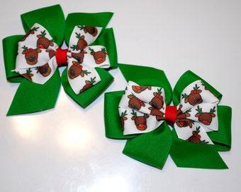 Reindeer Pinwheel Bows