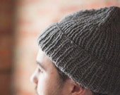 Timberline Hat in Grey - 100%  Recycled Wool from Reclaimed Sweaters - Ready to Ship