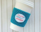 Crochet Coffee Cozy - Reusable Coffee Cup - Coffee Cozy - Mug Hug - Reusable Coffee Sleeve - Crochet Cup Cozy - Custom Coffee Sleeve