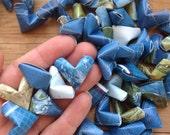 World Map Origami Hearts