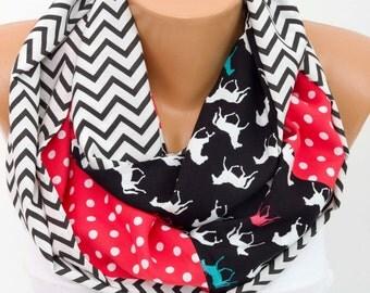 SALE infinity scarf ,loop scarf ,scarf ,patchwork scarf ,multicolor scarf