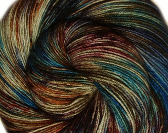 hand dyed yarn GROTESQUE pick your base - sw merino bfl silk nylon stellina fingering dk