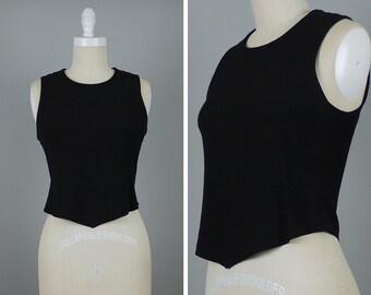 90s Minimalist Sonia Rykiel Top --> Designer Vintage Top --> 1990s Vintage --> Asymmetrical Top --> 90s Clothing --> 90s Vintage --> 1990