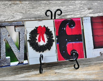 NOEL Holiday Sign in alphabet photography, Photo letters, Christmas sign, Holiday Decor, Hostess Gift