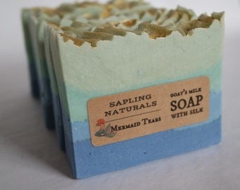 Mermaid Tears Soap with Goat's Milk and Silk