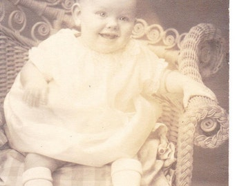 Old Photograph Smiling Baby Girls Vintage Photo Paper Ephemera Snapshot Photo Collectibles