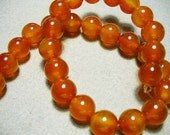 Carnelian Beads Gemstone Round 10mm