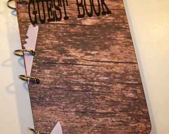 Lumberjack Guest Book, Woodland Birthday, Fishing Party Sign in Book, Little Lumberjack Baby Shower Guest Book, Lumberjack Party