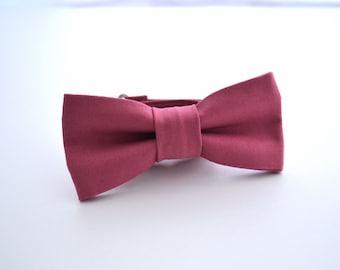 Boys Bowtie in Deep Rose, Mauve Bow Tie, Maroon Bow Tie, Kids Bowtie, Children's Bow Ties, Wedding Bow Tie, Ring Bearer Bow Tie