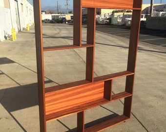 Mid century modern bookcase, shelf, shelving, book case
