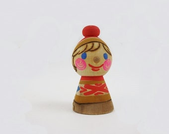 Vintage Handpainted Wooden Figurine