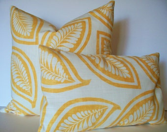 Yellow Pillow Cover P Kaufmann Pillow Botanical Pillow Cover Leaf For Ever Gold Yellow Pillow Cover Gold Leaves