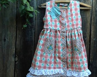 CUSTOM for Michelle summer soft rustic toddler Ecru Pink Brown Laces Birthday Celebration gypsy boho toddler country dress