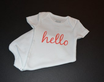 """Baby Bodysuit """"Hello"""""""